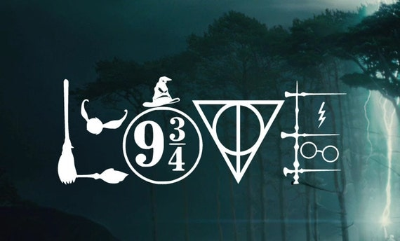 Download Harry Potter LOVE Symbols Decal Car decal Window Sticker