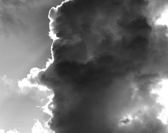 Face In The Cloud Greeting Card