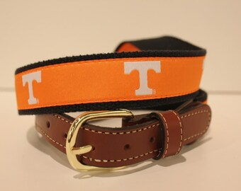 University of Tennessee Vols  Men's  Web Leather Belt