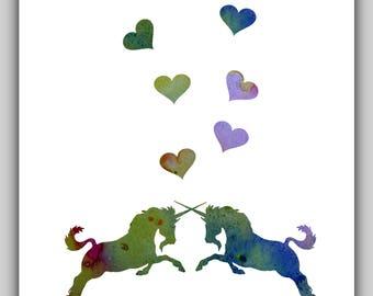 Unicorn art, water color, unicorn print, unicorn nursery, unicorn prints, abstract, printable artwork, art babies, printable girl unicorn