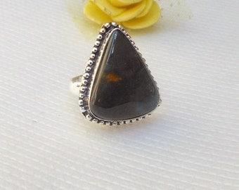 Teardrop Bloodstone Ring Gemstone Jewelry Natural Stone Jewelry Blood Stone rings Fashion Jewelry one of kind ring size 9