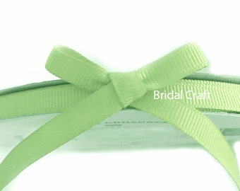 "Moss Green 1/4"" Grosgrain Ribbon 25 yards"