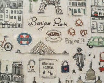 Lovely Travelling Paris Sticker-Paris Sticker