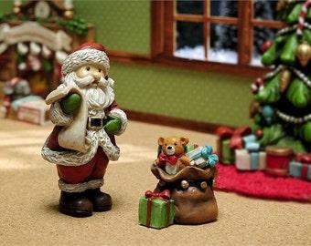 Night Before Christmas Santa And Gift Bag