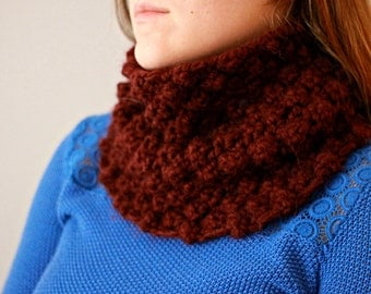 Large Dark Red Cowl