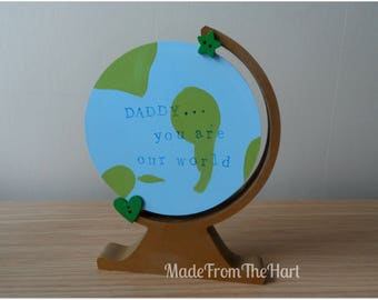 Freestanding Father's Day Globe Personalised