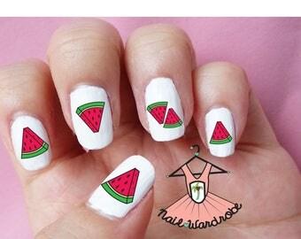 30 Watermelon Nail Decals