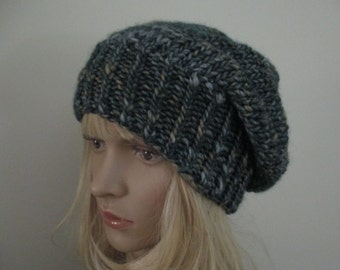 Slouchy Beanie Hat Women Mean Knitted  Slouch Hat Knit