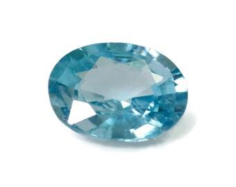 10x7mm Blue Zircon Loose Stone