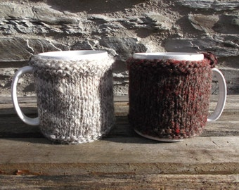 Mug Cosy Handspun and hand knitted