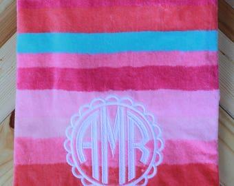 Monogrammed Beach Towel // Beach Towel // Personalized Beach Towel // Summer gift // Graduation Gift // Monogrammed Swim Towel // Beach Trip
