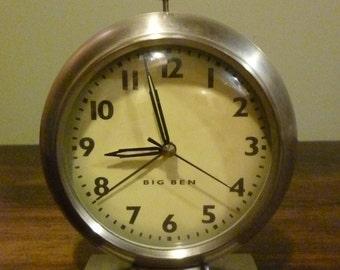 Vintage Metal Big Ben Alarm Clock