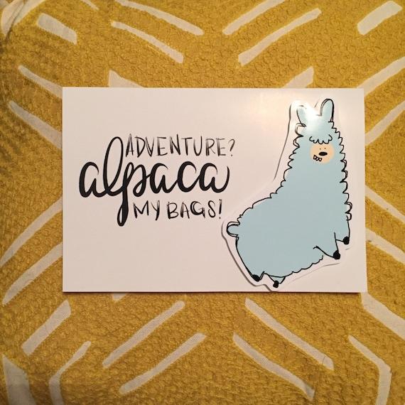 adventure card farewell card bon voyage card pun card