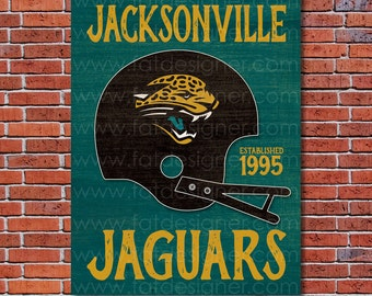 Jacksonville Jaguars - Vintage Helmet - Art Print - Perfect for Mancave