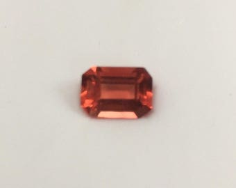 Lovely orange andesine natural gemstone.