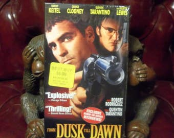 Sealed From Dusk Till Dawn VHS Video Cassette Tape Quinten Tarantino George Clooney Slasher Horror Cult Movie