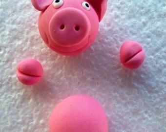 Pigs In Mud Cake Topper.