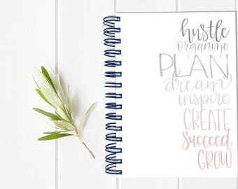 Inspirational Motivational Planner - One Year Fill in Calendar Planner - Weekly Planbook - Monthly Mom Boss Schedule Sister