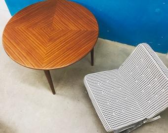 round table teak Danish design 50 years vintage