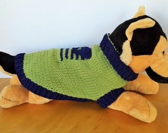 Hand Knitted Dog Sweater - Size Small