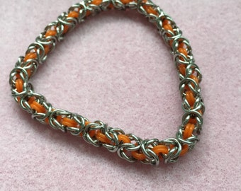 Stretchy Stainless Steel Chainmaille Bracelet