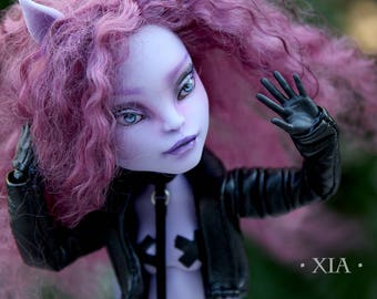 Xia - OOAK Monster High Repainted Art Doll