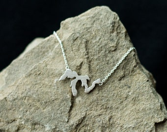 Silver Great Lakes necklace