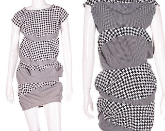 Junya Watanabe for Comme Des Garcons Houndstooth Accordion Dress