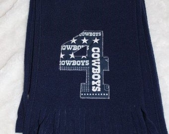 Dallas Cowboys Dak Prescott Fleece Scarf