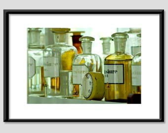 Photo print - poison / pharmacists / bottles / laboratory - A4 20 x 30 cm