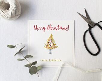 Christmas  Gift Tag, Digital Gift Tag, Christmas Tree Gift Tags, Preschool Gift Tag, School Gift Tag, Favor Tags, Watercolor Christmas