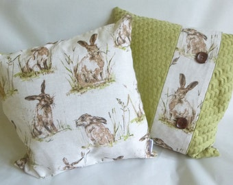 Spring rabbit cushion cover
