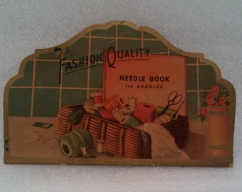Antique Sewing Needle Book Fashion Quality with Match Pack Package of Assorted Thread