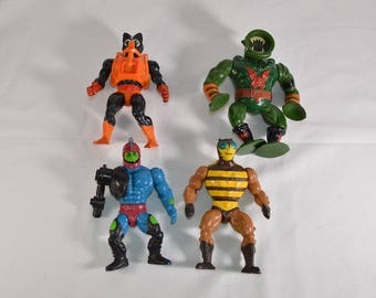 Stinkor, Leech, Trap Jaw and Buzz Off action figures Masters of the Universe He-Man MOTU