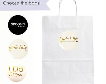 Bride Tribe Gift Bag- Bridal Party Gift Bags- Wedding Party Gift Bags- Groomsmen Gift Bags- Groomsman Gift Bag- Bachelorette Party Gift Bags
