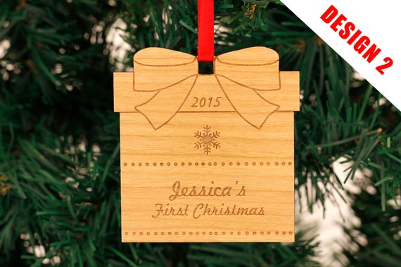 Personalised Christmas Ornaments - Engraved Christmas Ornaments - Christmas Tree Decorations - Christmas Gifts - Any Engraved Message