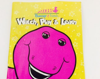 Barney and Friends Watch play and learn Book, Barney activity book, Barney book, Barney Watch play and learn Book