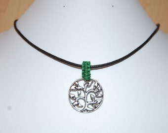 Tree of Life Necklace,Tree of Life Leather Chocker Necklace,Choker Necklace,Man,Woman,Cord Necklace,Buddhist,Lobster Lock End Cord