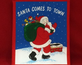 "Children's Cloth Book ""Santa Comes to Town"""