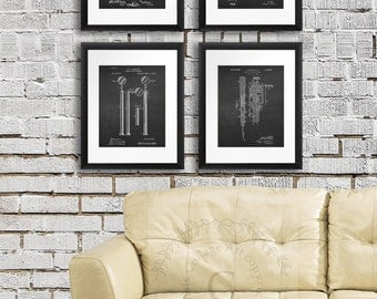 Dental Wall Decor Patents Wall art set of 4 Dentistry Patent prints, Gift for dental hygienist, gift for dentist, dentist office decor,