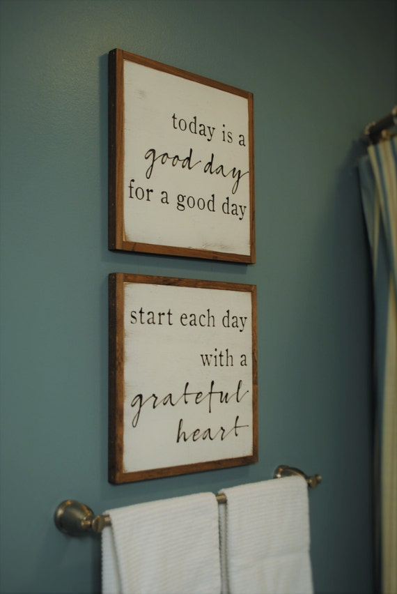 ONLINE SPECIAL! Good Day & Grateful Heart bundle || set of 2 signs