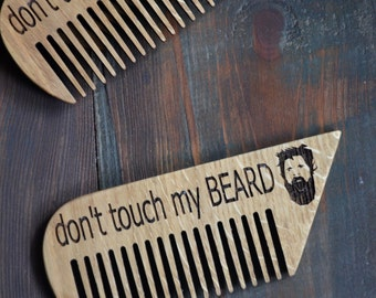 custom men gift engraved wooden comb beard mustache hair. Black Bedroom Furniture Sets. Home Design Ideas