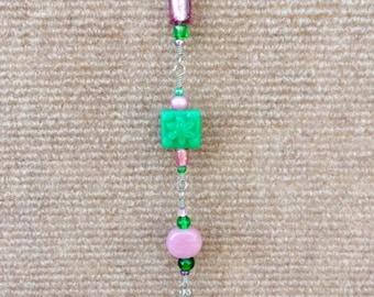 Chandelier Crystal Sun Catcher Pink/Green