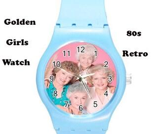 Golden Girls, 80's, retro, wrist watch, sports, sports watch, pink, retro films, 80s films,80s fashion, fashion