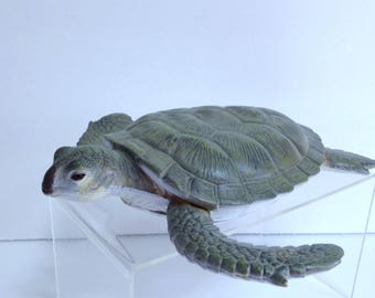 Large Sea Turtle Model,  Vintage AAA Model Collection, Ocean Wildlife, Aquarium Souvenir Turtle, Like Schleich Hand-Sized Teaching Models