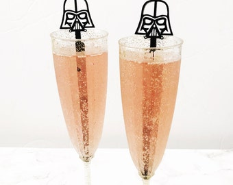 Darth Vader Inspired  Drink Stirrer,Star wars,stir stick,swizzle Sticks,Drink Stirrers,Cocktail Stick,Gift for him,Weddings,wedding gift,6Pk