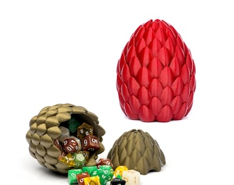 Harry Potter Inspired Norwegian Ridgeback Dragon Egg Container For Dice and Other Small Trinkets of Sorcery w/ Optional Soft Liner