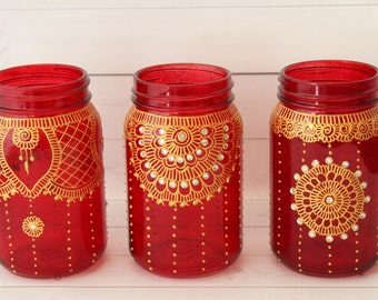 Mason Jar Wedding Centerpieces - Moroccan Decor - Moroccan Lantern - Mason Jar Centerpieces Wedding - Mason Jar Wedding Decorations