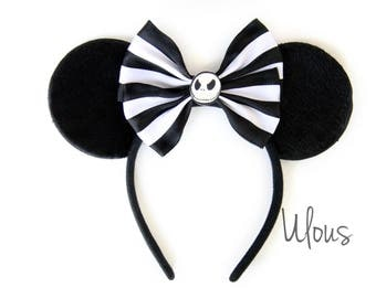 Jack Skellington Mickey Ears, Jack Skellington Ears, Jack Ears, Nightmare Before Christmas Ears, Nightmare Before Christmas Mickey Ears,