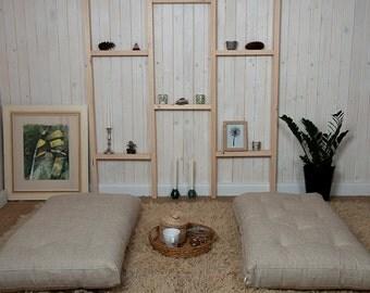 SALE 15% OFF / Wool-filled Cushion for Window Seat or Bench / Floor cushion / 21 x 38 x 6'' (54 x 96 x 15 cm)